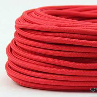 Textilkabel rot 2-adrig 2x0,75 Gummischlauchleitung textilummantelt