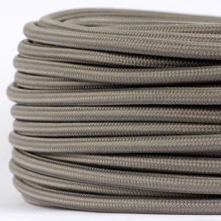 Textilkabel Stoffkabel grau 3-adrig 3x0,75 Gummischlauchleitung 3G 0,75 H03VV-F textilummantelt