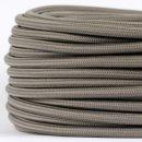 Textilkabel Stoffkabel grau 3-adrig 3x0,75...