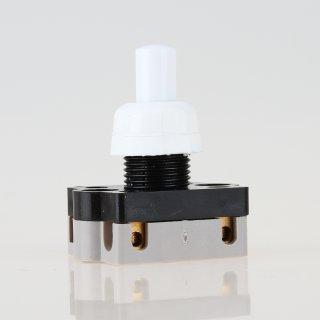 Lampen Einbauschalter Serien Einbau-Druckschalter weiß 250V/2A 12 mm Achse 1-polig interbär