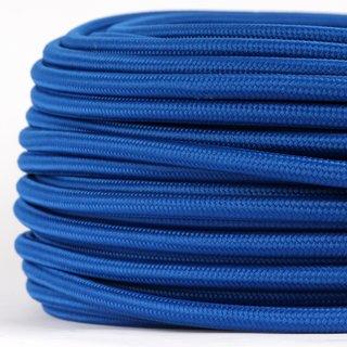 Textilkabel Stoffkabel dunkelblau 3-adrig 3x0,75 Gummischlauchleitung 3G 0,75 H03VV-F textilummantelt