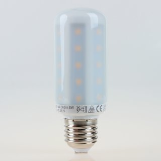 E27 LED Leuchtmittel Röhren-Lampe matt 8W 3000K 680lm warmweiß GreenLED