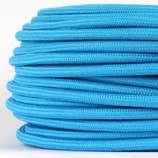 Textilkabel Stoffkabel hellblau 3-adrig 3x0,75 Gummischlauchleitung 3G 0,75 H03VV-F textilummantelt