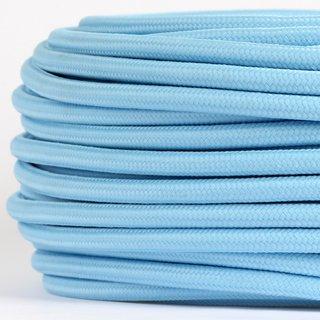 Textilkabel Stoffkabel himmelblau 3-adrig 3x0,75 Gummischlauchleitung 3G 0,75 H03VV-F textilummantelt