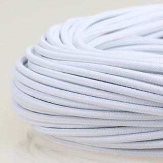 Textilkabel Stoffkabel weiß 1-adrig 1x0,75mm² Einzeladerleitung