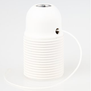 E27 Lampenfassung Kunststoff weiß mit Zugschalter und Außengewinde