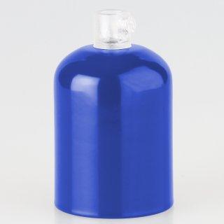 E27 Metall Fassungshülse Zierhülsen-Set dunkelblau mit Lampenfassung und Zugentlaster