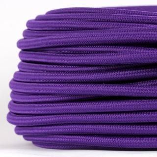 Textilkabel Stoffkabel violett 3-adrig 3x0,75 Gummischlauchleitung 3G 0,75 H03VV-F textilummantelt