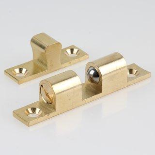 Häfele Ideal-Schnäpper Doppel-Kugelschnäpper Messing 70mm zum Schrauben