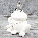 "Spardose Frosch ""King of Frog"" Höhe 14cm..."