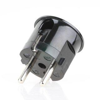 zwei Erdleitersystem Schutzkontakt-Stecker Winkelstecker schwarz 250V/16A