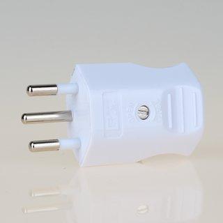 Lampen Schutzkontakt-Stecker weiß für die Schweiz 3-polig 10A/250V