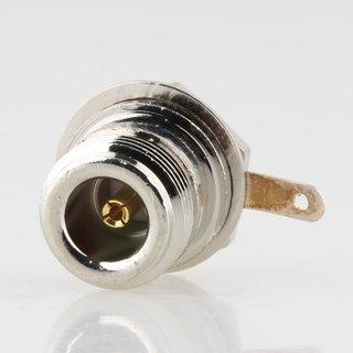 N-Chassis-Einbaubuchse Einbau-Kupplung mit Gold-Kontakt