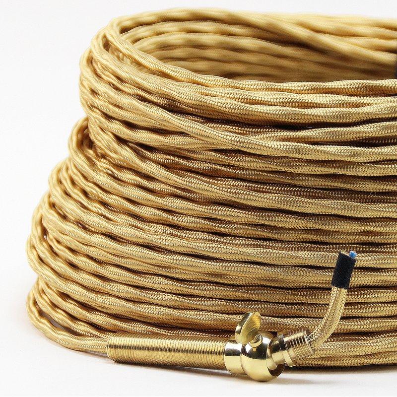 textilkabel stoffkabel gold 3 adrig 3x0 75 extra d nn 2 95 eur. Black Bedroom Furniture Sets. Home Design Ideas