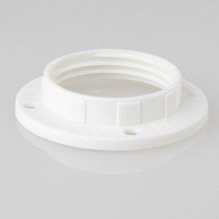 E14 Unterring Schraubring Thermoplast weiß 43x10mm für Kunststoff Fassung