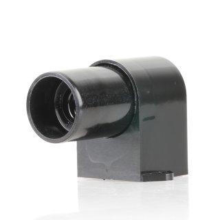 E14 Möbel-Einbau Winkelfassung schwarz 250V/2A für 25W Glühlampe