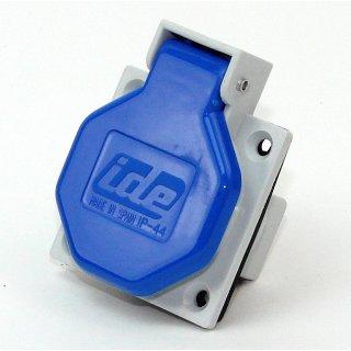 ide Schutzkontakt-Anbausteckdose 250V16A  IP44 blau