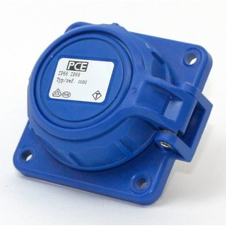 PCE Schutzkontakt-Anbausteckdose NAUTILUS 250V/16A IP66/68 blau