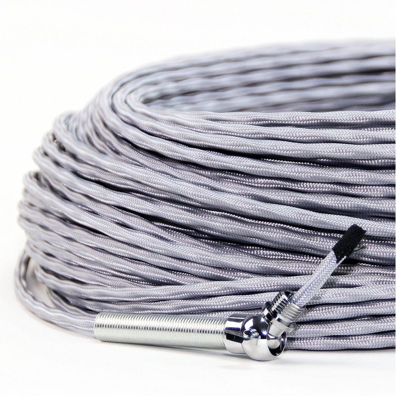 textilkabel stoffkabel silber 3 adrig 3x0 75 extra d nn 2 95 e. Black Bedroom Furniture Sets. Home Design Ideas